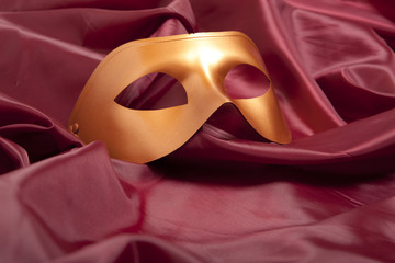 Golden carnival mask