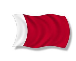 Illustration,Flagge von Bahrain