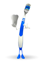 Toothbrush Character is presenting