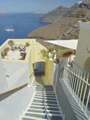 thira - greece - stairs