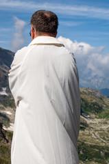 prete in montagna