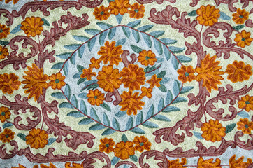 ornamental asian cloth background