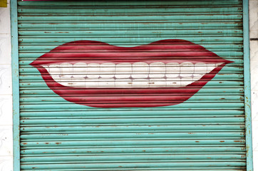 asian market doors background