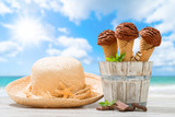 Ice Creams At The Beach