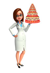 Young Doctor with cake
