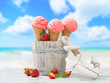 canvas print picture - Ice Creams On Vacation
