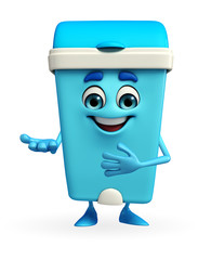 Dustbin Character with welcome pose