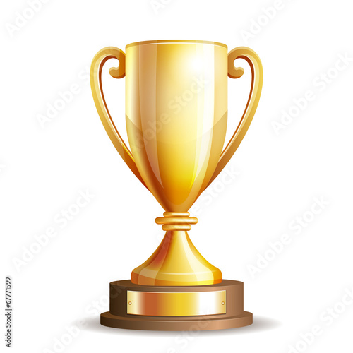 Golden trophy cup - 67771599
