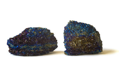 Unusual granular chalcopyrite. Larger piece 4.5cm across.