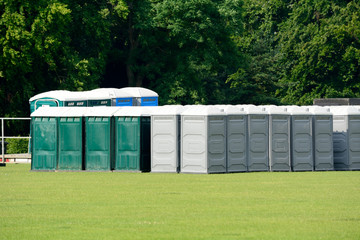 Portaloos at festival