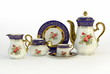Set of antique tea and coffee cups, isolated - 67772928