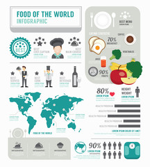 Infographic business of foods template design . concept vector.
