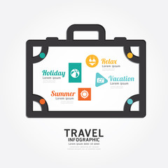 infographics vector travel luggage design diagram line style tem