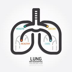 infographics vector lung design organ concept diagram line style