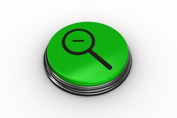 Composite image of magnifying glass graphic on button
