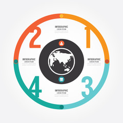 Modern Design circle template / can be used for info graphics.