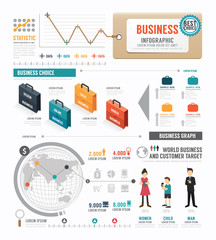 Infographic  Business world  template design . concept vector.