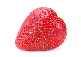 Strawberry fruit on white