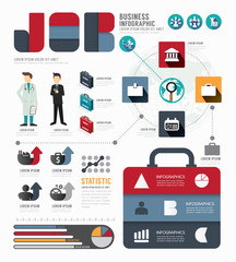 Infographic Businessworld  job template design . concept vector