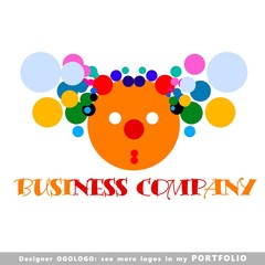 logo, illustrations, vector, clown, smiling, circus