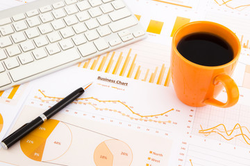 graphs, charts, data report