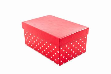 Red polka dots box.