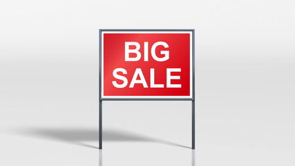 shop signage stand discount big sale