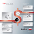 Abstract business infographic