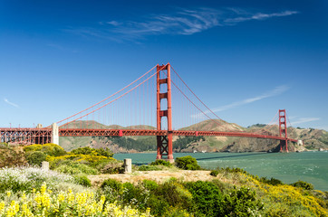 Golden Gate Bridge im Sommer