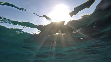 Sun Shining Through Water Sea