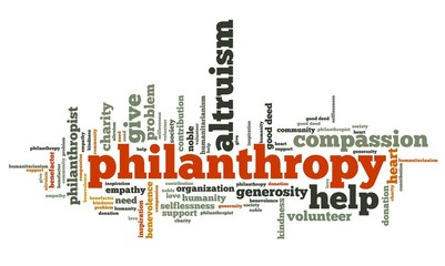 Philanthropy - word cloud illustration