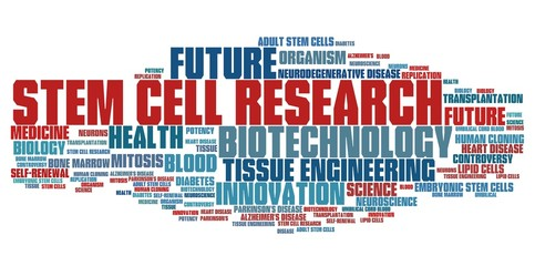 Stem cell research - word cloud illustration