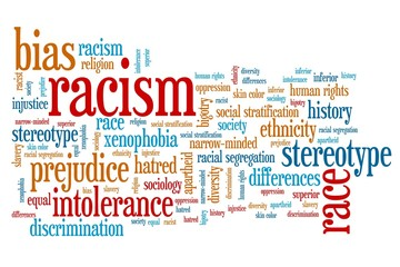 Racism - word cloud illustration