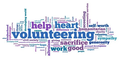 Volunteering - word cloud illustration