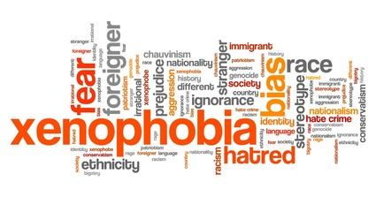 Xenophobia - word cloud illustration