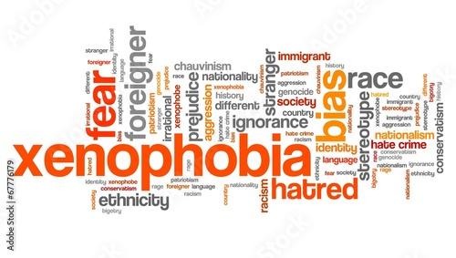 Xenophobia - word cloud illustration