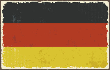 Germany grunge flag. Vector illustration
