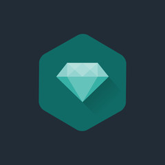 Diamond cuts vector flat icon