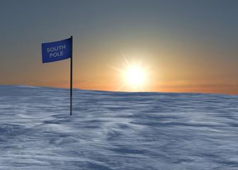 Polo Sud neve ghiaccio