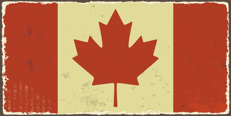 Canadian grunge flag. Vector illustration