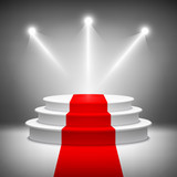 Illuminated stage podium for award ceremony vector - 67776756