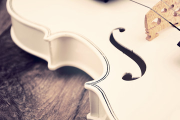 Beautiful white violin