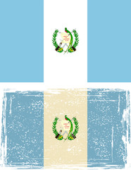Guatemala grunge flag. Vector illustration