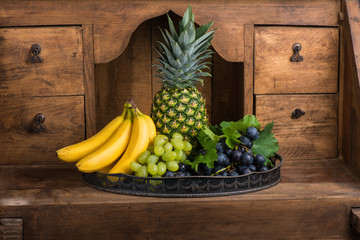 Platter of assorted fresh fruits