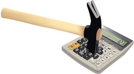 martellata alla calcolatrice