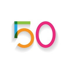 number 50 in flat design