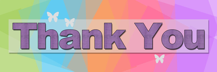 Thank You Colorful Squares Background Banner