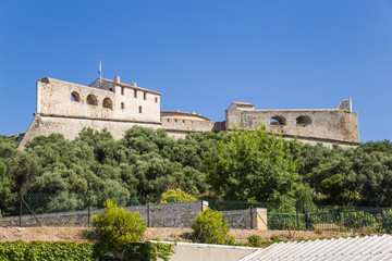 Antibes, France. View of fort Carre