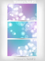 Winter's Set Of Soft Bokeh Background Vector Illustration part 2