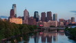 Timelapse of the philadelphia skyline - Pennsylvania USA